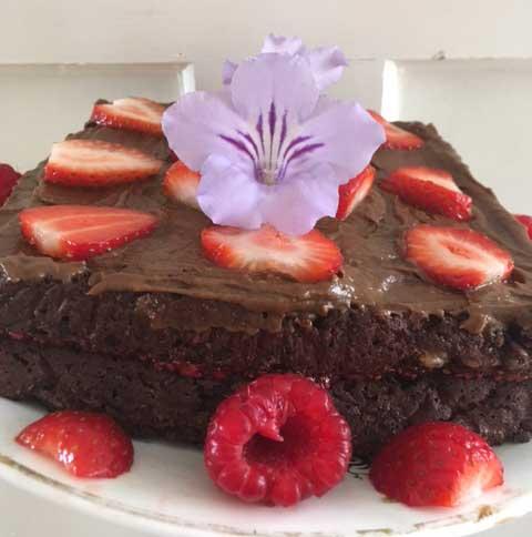 Keto Vegan Chocolate Birthday Cake