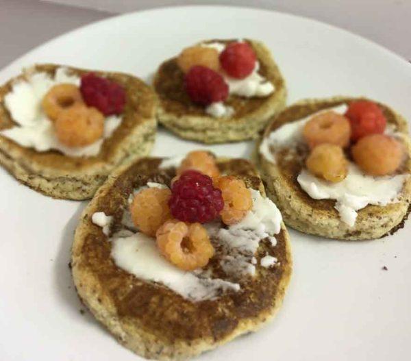 Low carb vegan pancakes