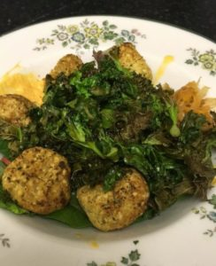 Lupini Falafels with Kale
